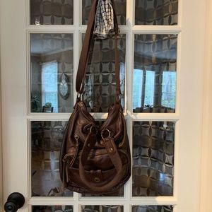 American eagle slouchy leather purse